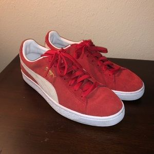 Red puma shoes 10.5 lightly worn